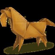 April Kalender Origami Pferd