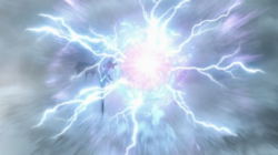 Plasma and lightning collison