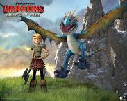 Astrid-Stormfly-Dreamworks-Dragons-Riders-of-Berk-wallpaper-2