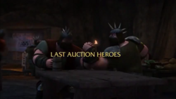 Last Auction Heroes title card