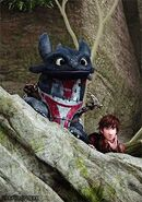 Hiccup and toothless 4