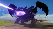 Toothless shoot a plasma blast