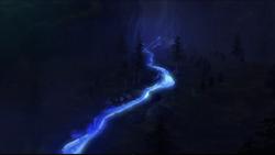 Glowing algae stream