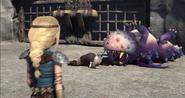 Gothi's Gronckle upside down