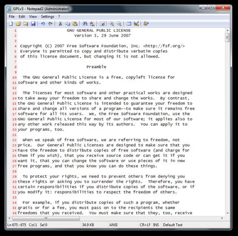 File:Notepad2 Screenshot.png