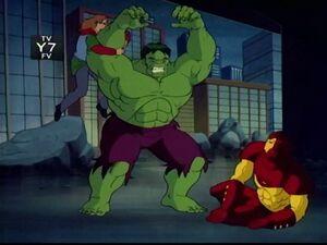 Rick Hulk Iron Man Fight