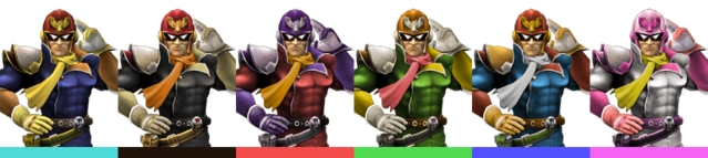 File:Captain Falcon Palette (SSBB).png