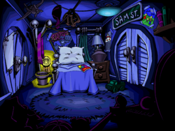 Pajama Sam Sam's Bedroom