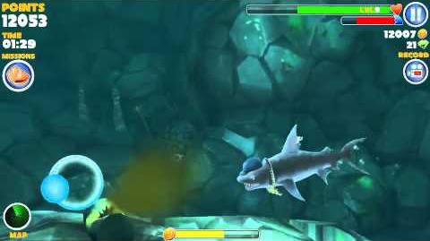 How to find the kempy bass in hungry shark