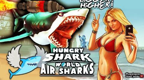 Highest Flight JETPACK Sharks! Hungry Shark World New Update HungrySharkWorld
