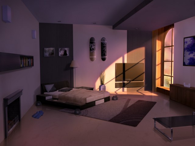 File:My Bedroom (Evening).png