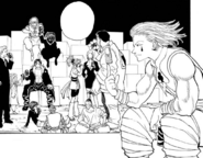 Phantom Troupe celebrating