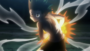 Gon preparing Janken during first fight with Knuckle