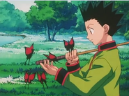 Gon surrounded by Hemotrophic Butterflies