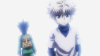 Killua bids farewell to Gon