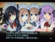 Nepgear, Ram, Rom, and Uni as Maids