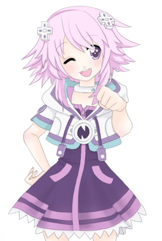 File:Neptunia v brofist by chocoemerald-d4wlrpi.png