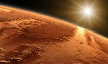 Mars and Sun