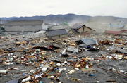 Tsunami damage in SF