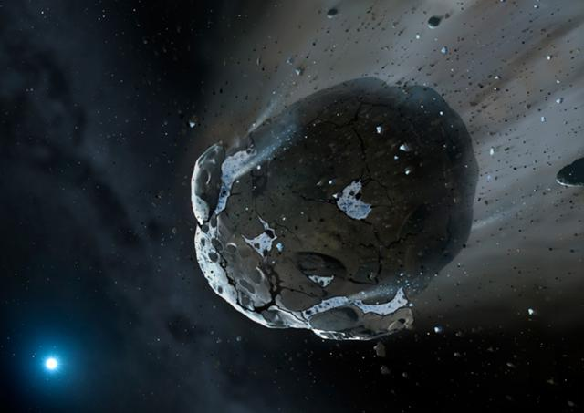 File:Artist's view of watery asteroid in white dwarf star system GD 61.jpg