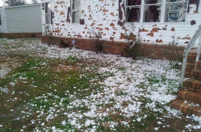 File:Siding hail damage.jpg