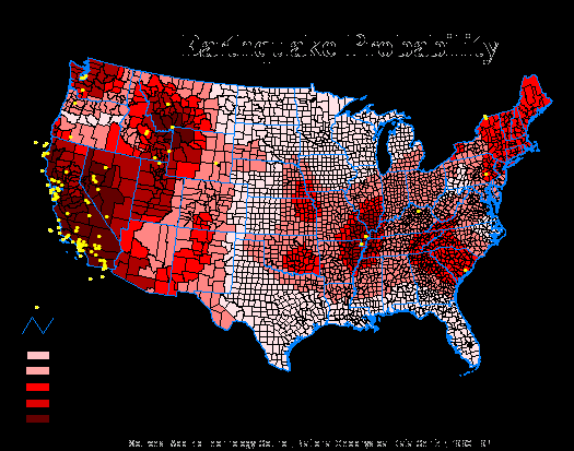File:Earhquakes and earthquake risk in the US.png