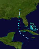 Tropical Storm Bret Track (2017 - Money Hurricane).png