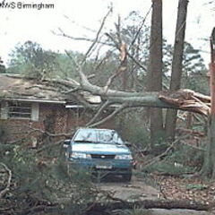 Some damage caused by the First Greensburg EF1