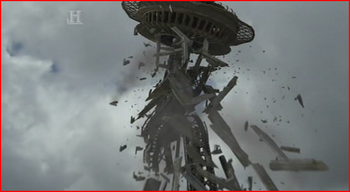 Space needle collapses