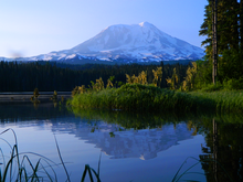File:Mount Adams Early Morning Reflection at Takhlakh Lake.png
