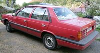 Hyundai Stellar 1986 red Sweden