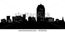 Stock-photo-cartoon-skyline-silhouette-of-the-city-of-allentown-pennsylvania-usa-97152431