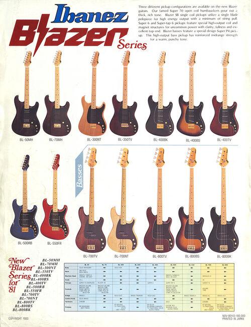 1981 Ibanez Blazer leaflet p2