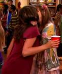 Girl-girl kiss