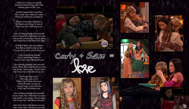 File:Sam Puckett and Carly Shay by KamikazeeKennedy.jpg