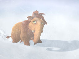 Young Ellie stuck in a blizzard