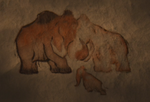 Stone Drawing of Manny's first family