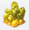 Deco yellow crystal