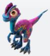 Pink dilophosaur baby2