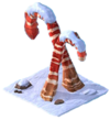 Cropped candy cane