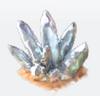 Deco white crystal