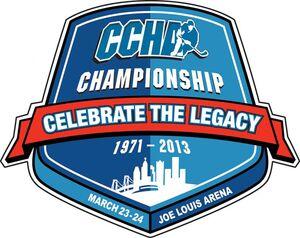 2013 CCHA Tournament logo