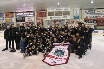 2016 Allan Cup champs Bentley Generals group
