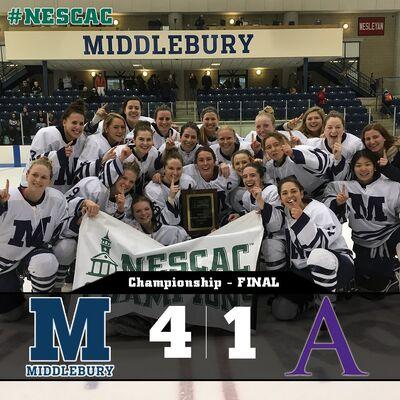 2017 NESCAC Women's champs Middlebury Panthers
