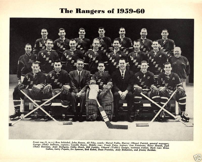 1959–60 New York Rangers season | Ice Hockey Wiki | FANDOM ...