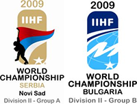 2009 IIHF World Championship Division II Logo