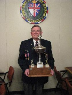 ANAVET President Mike Terry with original Cup
