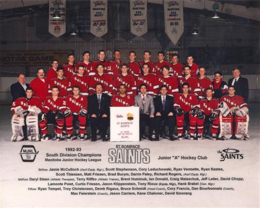 St. Boniface Saints 1992-93