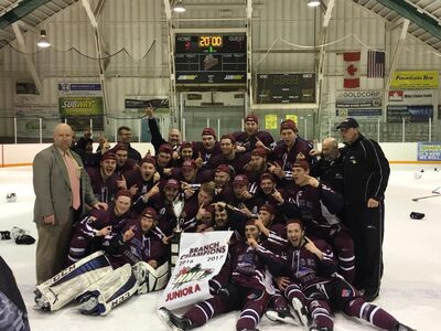 2017 SIJHL champs Dryden Ice Dogs