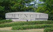 Muncie, IN Welcome Sign